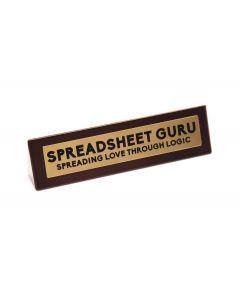 Wooden Desk Sign - Spreadsheet Guru