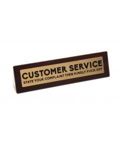Wooden Desk Sign - Customer Service