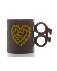 Bike Mug - Heart Chain (14oz)