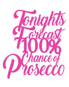Chatterwall - Tonights Forecast 100% Chance Of Prosecco
